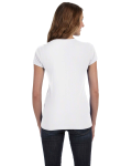Ladies' Baby Rib Short-Sleeve V-Neck T-Shirt back Thumb Image