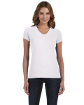 Ladies' Baby Rib Short-Sleeve V-Neck T-Shirt front Thumb Image