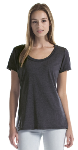 Ladies Bamboo Tri-Blend Flowy T-Shirt front Image