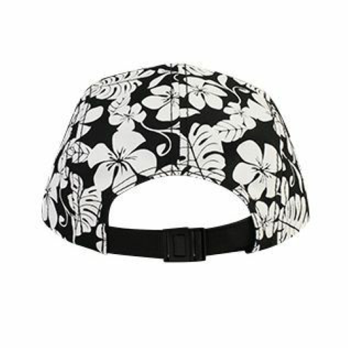 Hawaiian Pattern Five Panel Camper Hat back Image
