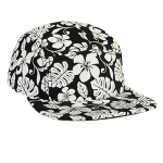 Hawaiian Pattern Five Panel Camper Hat front Thumb Image