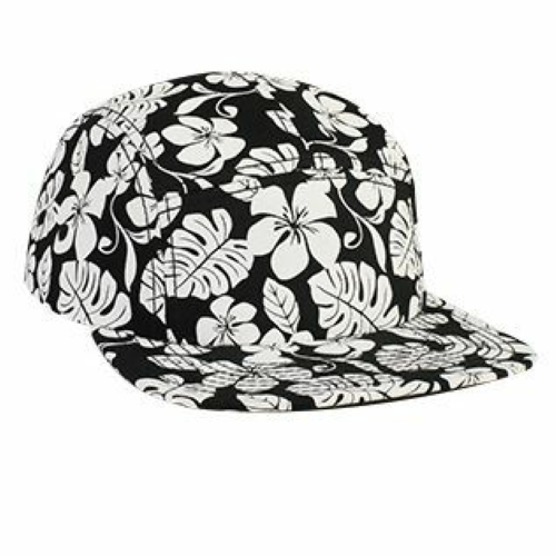 Hawaiian Pattern Five Panel Camper Hat front Image