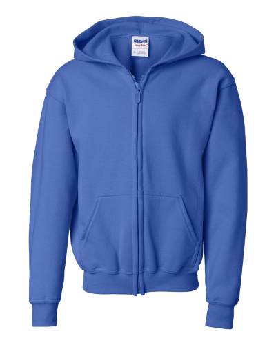Heavy Blend Youth Full-Zip Hooded Sweatshirt front Image