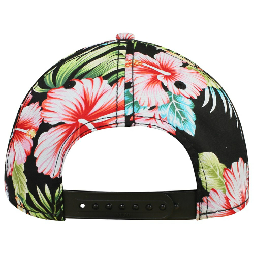 Hawaiian Pattern Cotton Twill Six Panel Low Profile Baseball Cap back Image