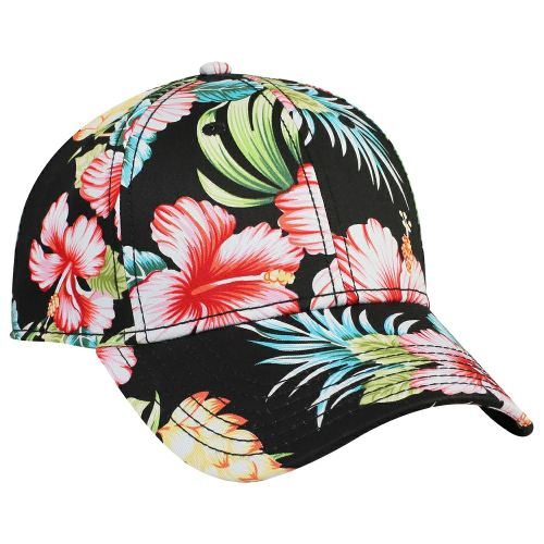 Hawaiian Pattern Cotton Twill Six Panel Low Profile Baseball Cap front Image