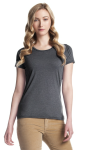 Ladies Bamboo Tri-Blend Crewneck front Thumb Image