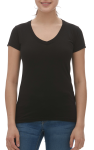 LADIES BLEND V-NECK TEE front Thumb Image