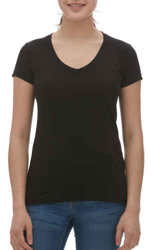 LADIES BLEND V-NECK TEE front Image