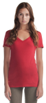 Relaxed Fit V-Neck Bamboo T front Thumb Image