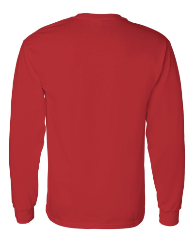 Heavy Cotton Long Sleeve T-Shirt back Image