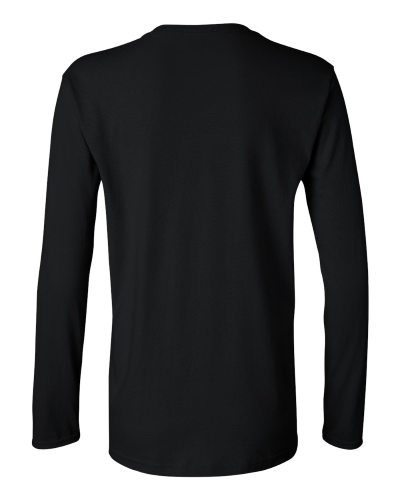 Ladies Heavy Cotton Long Sleeve T-Shirt back Image
