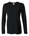 Ladies Heavy Cotton Long Sleeve T-Shirt front Thumb Image