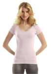 Bamboo Deep Scoop Neck T front Thumb Image