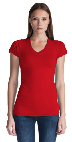 Ladies Bamboo V-Neck front Image