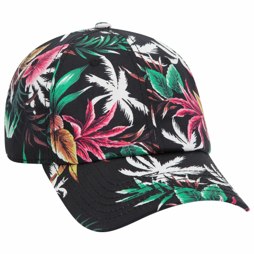 Hawaiian Pattern Six Panel Low Profile Cap front Image