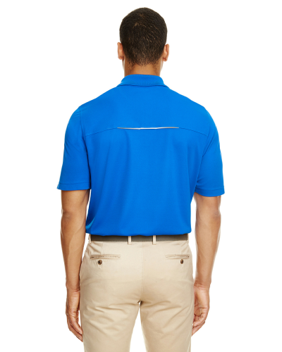 Men's Radiant Performance Piqué Polo with Reflective Piping back Image