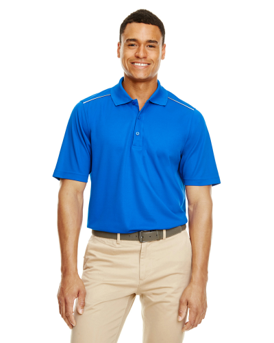 Men's Radiant Performance Piqué Polo with Reflective Piping front Image