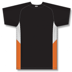 Full Button Baseball Jersey, Knit Polyester With Mesh Inserts back Thumb Image