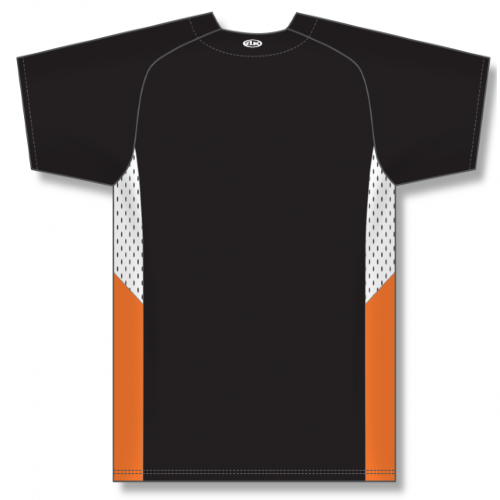 Full Button Baseball Jersey, Knit Polyester With Mesh Inserts back Image