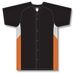 Full Button Baseball Jersey, Knit Polyester With Mesh Inserts front Thumb Image