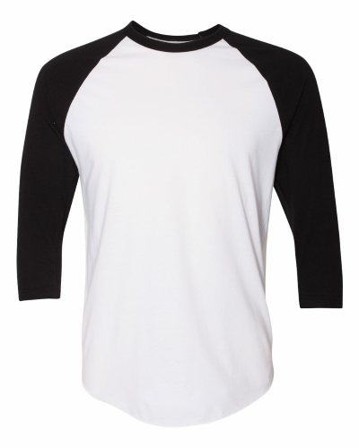 Poly-Cotton Baseball Raglan Tee front Image