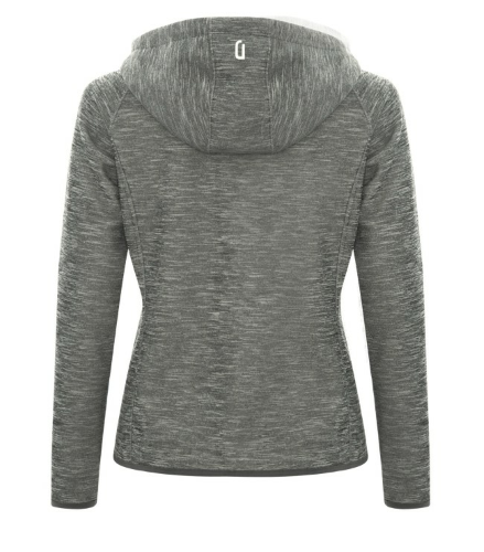 DRYFRAME® Dry Tech Fleece Full Zip Hooded Ladies' Jacket back Image