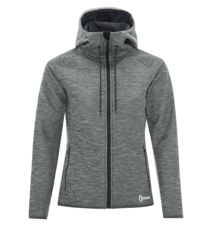 DRYFRAME® Dry Tech Fleece Full Zip Hooded Ladies' Jacket front Image