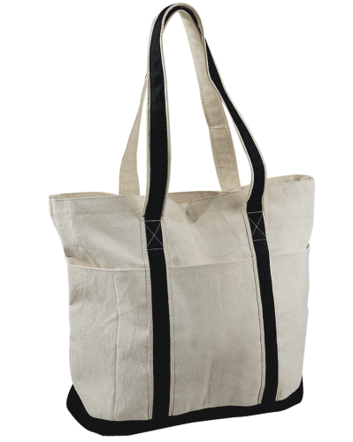 Heavy Cotton Tote Bag back Image