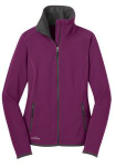 Ladies Full-Zip Vertical Fleece Jacket front Thumb Image