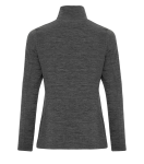 DYNAMIC HEATHER FLEECE 1/2 ZIP LADIES' SWEATSHIRT back Thumb Image
