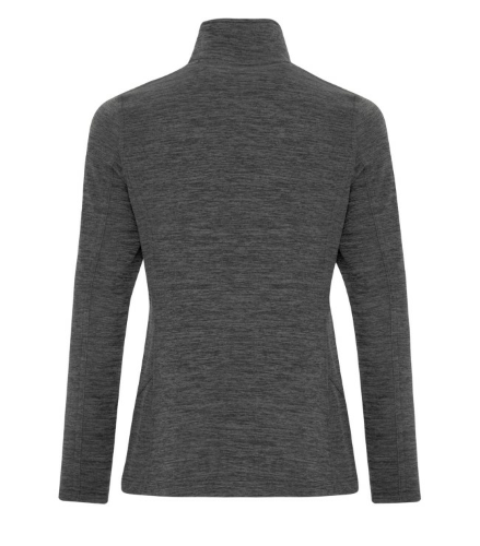 DYNAMIC HEATHER FLEECE 1/2 ZIP LADIES' SWEATSHIRT back Image