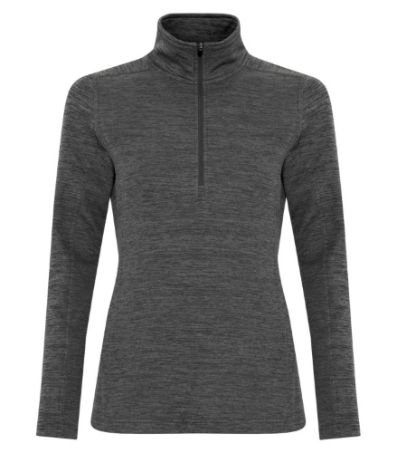 DYNAMIC HEATHER FLEECE 1/2 ZIP LADIES' SWEATSHIRT front Image