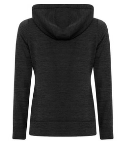 LADIES DYNAMIC HEATHER FLEECE HOODED LADIES' SWEATSHIRT back Image