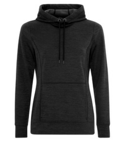 LADIES DYNAMIC HEATHER FLEECE HOODED LADIES' SWEATSHIRT front Image