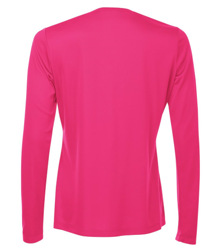 Pro Team V-Neck Long Sleeve Ladies' Tee back Image