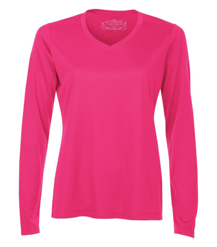 Pro Team V-Neck Long Sleeve Ladies' Tee front Image
