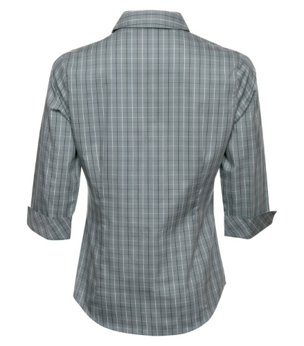 Tattersall Check Woven Ladies Shirt back Image