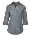 Tattersall Check Woven Ladies Shirt front Thumb Image