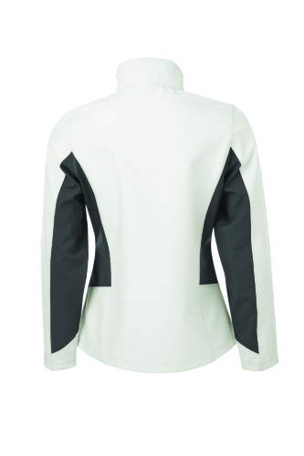 COAL HARBOUR® EVERYDAY COLOUR BLOCK SOFT SHELL LADIES' JACKET back Image
