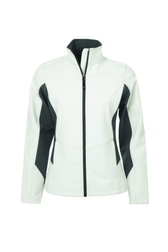 COAL HARBOUR® EVERYDAY COLOUR BLOCK SOFT SHELL LADIES' JACKET front Image