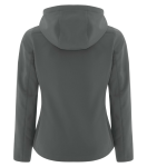 COAL HARBOUR® ESSENTIAL HOODED SOFT SHELL LADIES' JACKET back Thumb Image
