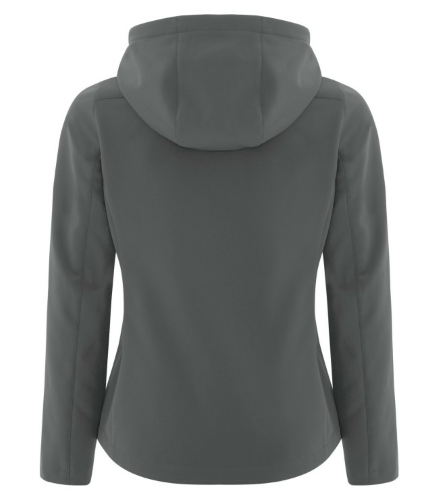 COAL HARBOUR® ESSENTIAL HOODED SOFT SHELL LADIES' JACKET back Image