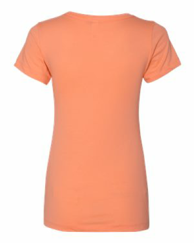 Ladies' Ideal V-Neck Tee back Image