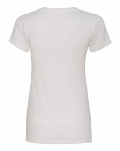 Ladies' Sueded V-Neck Tee back Image