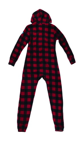 Canada Plaid Footless Onesie back Image