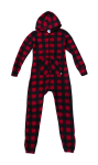 Canada Plaid Footless Onesie front Thumb Image