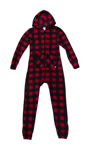 Canada Plaid Footless Onesie front Image