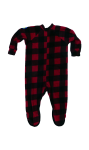 Canada Plaid Little Kids Footed Pajama back Thumb Image