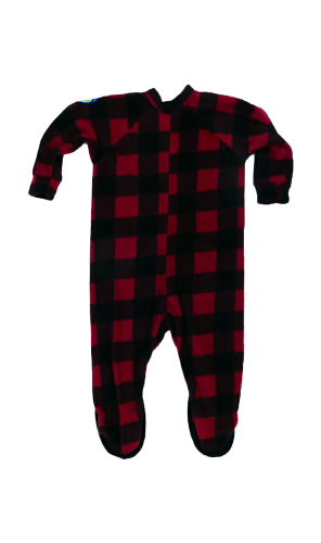 Canada Plaid Little Kids Footed Pajama back Image