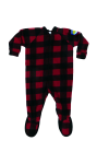 Canada Plaid Little Kids Footed Pajama front Thumb Image